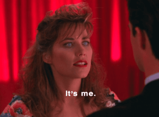 Caroline (or her dopperlganger) appears to Cooper in Twin Peaks