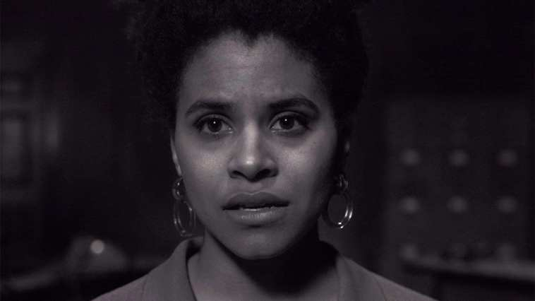"""Zazie Beetz as Sophie, the writer of the episode within an episode of The Twilight Zone """"Blurryman"""""""
