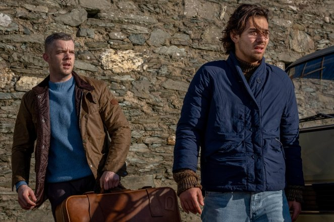 Russell Tovey and Maxim Baldry as Daniel and Viktor in the BBC and HBO show Years and Years