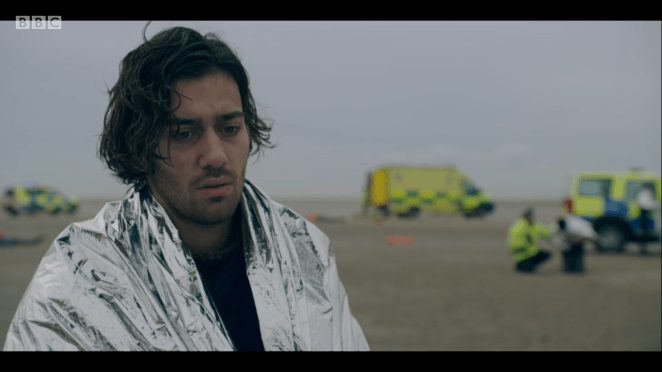 Maxim Baldry as Viktor in the BBC and HBO show Years and Years