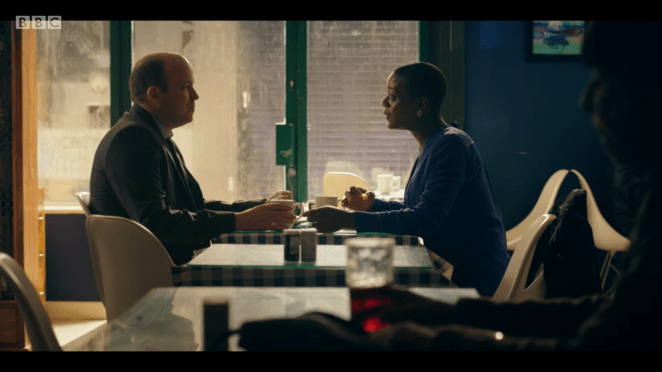 Stephen and Celeste discuss their marriage and work as they meet for lunch
