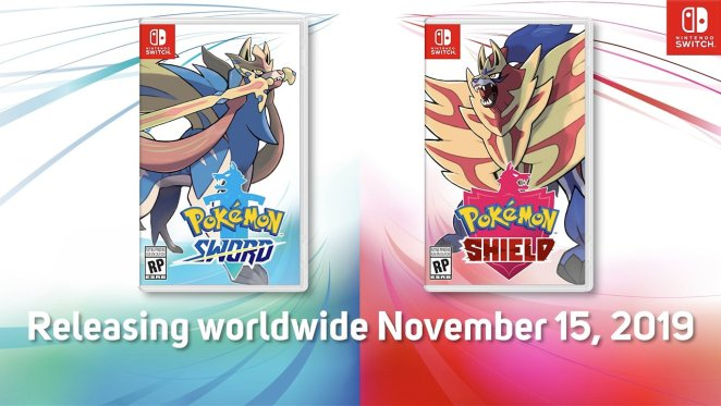Box art and release date for the upcoming games, pokemon sword and shield