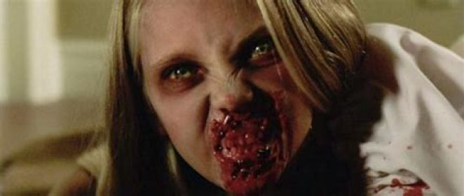 Close-up of zombie child from Dawn of the Dead remake.