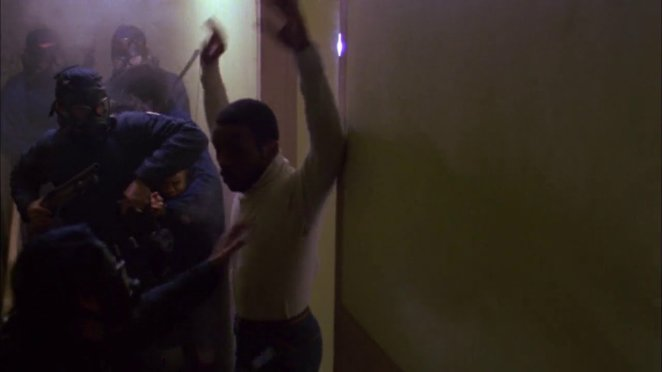 SWAT team raids urban housing development in original Dawn of the Dead.