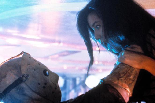 Eva (Kelly Hu) will sadly also not make it to New York in Friday the 13th Part VIII: Jason Takes Manhattan.