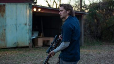 Luke Grimes as Nick Brenner in the action / thriller INTO THE ASHES.