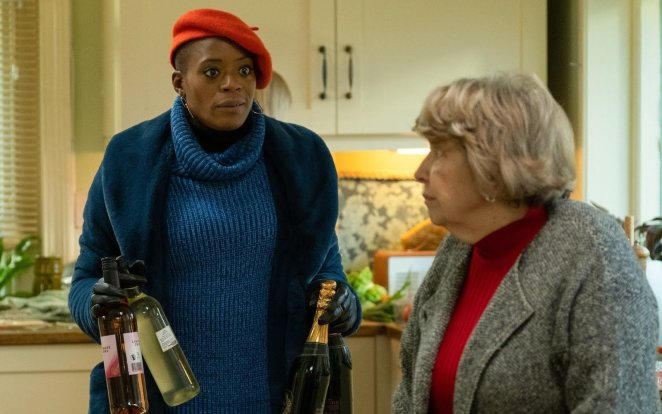 T'Nia Miller as Celeste Lyon's in the BBC and HBO show Years and Years