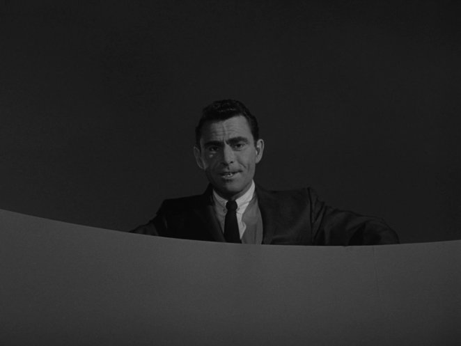 Rod Serling lords over the Five Characters Looking For An Exit on The Twilight Zone