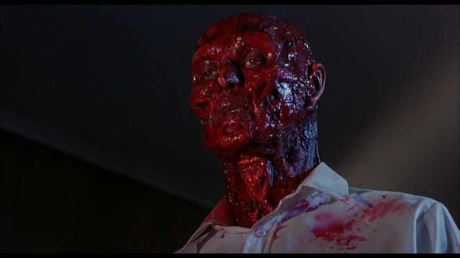 Frank now has flesh and blood but no skin, Hellraiser