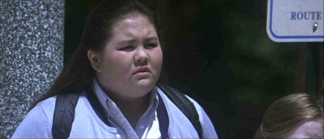 Cherita Chen at a bus stop