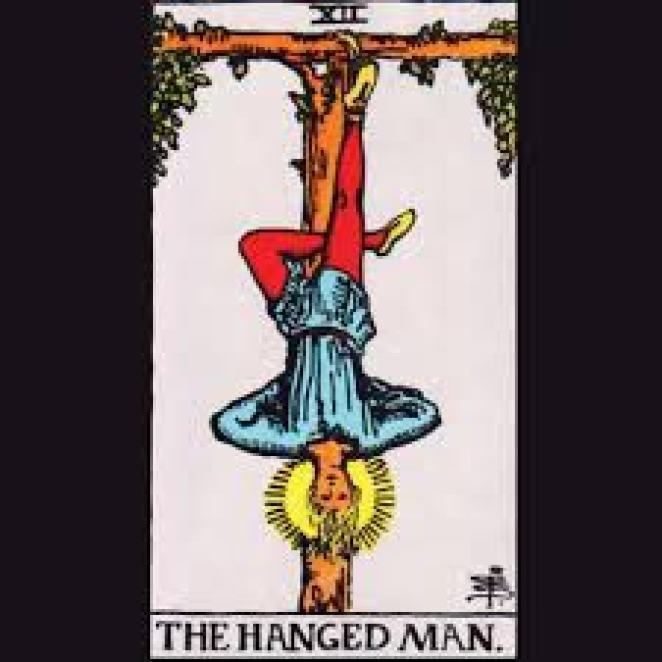 Martin Jones represnts the Hanged Man in Nicolas WInding Refn's Too Old To Die Young.