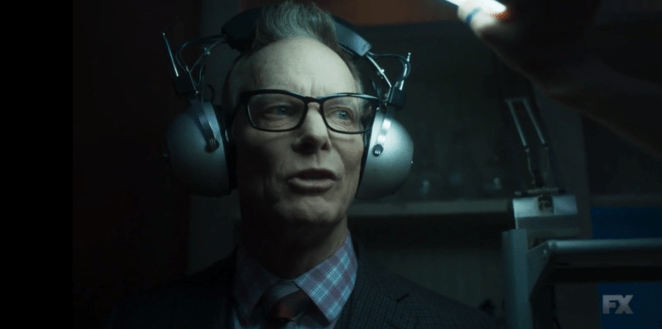 Cary says David is going to save the world in Legion