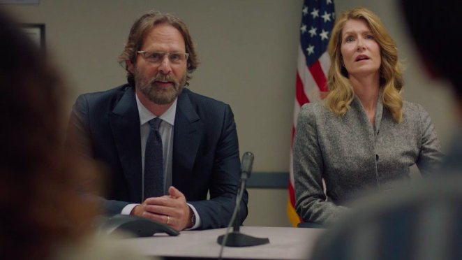 Jeffrey Nordling and Laura Dern as Gordon and Renata Klein in season two of Big Little Lies on HBO