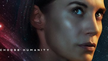 "Another Life - Poster image of Captain Niko with ""Choose Humanity"" logo"
