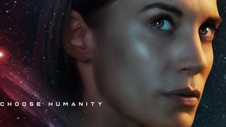 """Another Life - Poster image of Captain Niko with """"Choose Humanity"""" logo"""