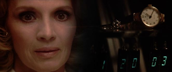 An early diopter shot from Dressed to Kill shows Angie Dickinson remembering where she left her wedding ring