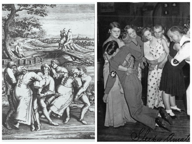 A dancing illness in the early 1600s and a 1930s dance marathon hold surprising similarities