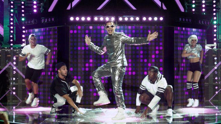 Andy Samberg does anything for a hit as Conner4Real in Pop Star: Never Stop Never Stopping.