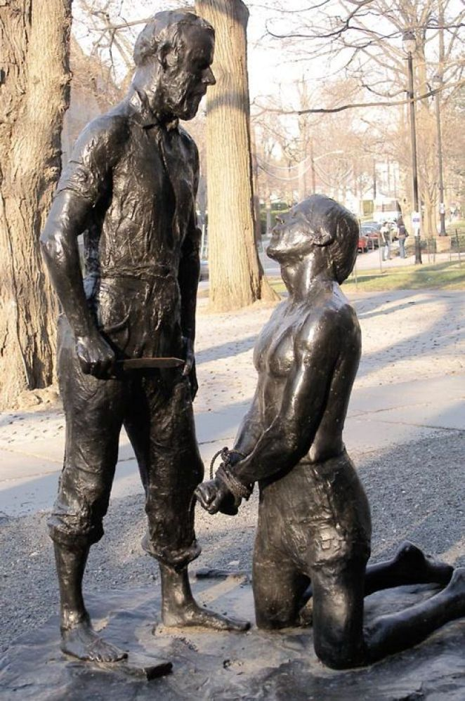 George Segal created a sculpture of Abraham and Isaac to commemorate the May 4, 1970 shootings at Kent State