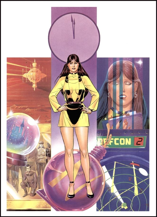 Silk Spectre II poster with clock