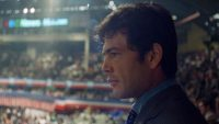 "Robert Forster filmed looking over the 1968 Democratic National Convention in ""Medium Cool"""