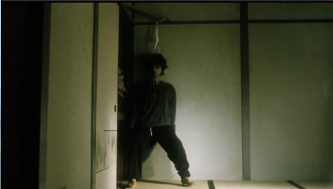 A Japanese man hangs himself from a closet in Pulse