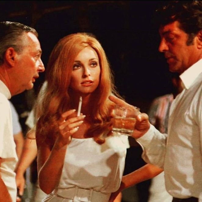 Sharon Tate on the set of The Wrecking Crew