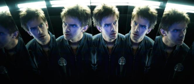 Multiple reflections of David in numerous mirrors
