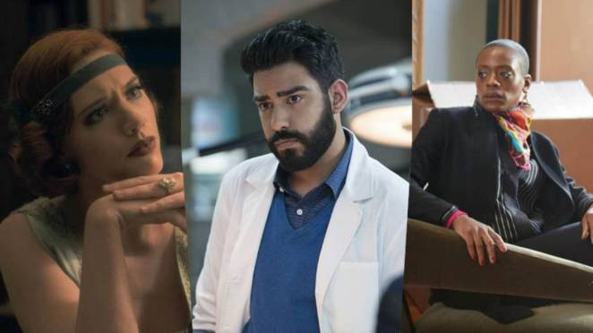 Catherine Parks, Rahul Kohli, and T'Nia Miller for the new season of Haunting