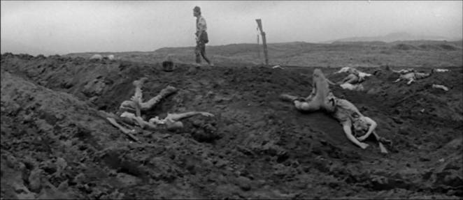 Private Tamura walks amongst his dead comrades in Fires on the Plain