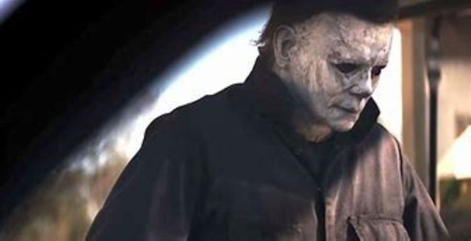 The killer Michael Myers is reunited with his mask in Halloween