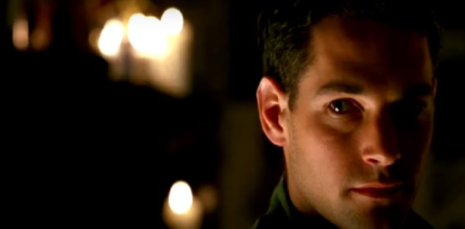 Tommy Doyle (Paul Rudd In his first role) is shown in front of lit candles