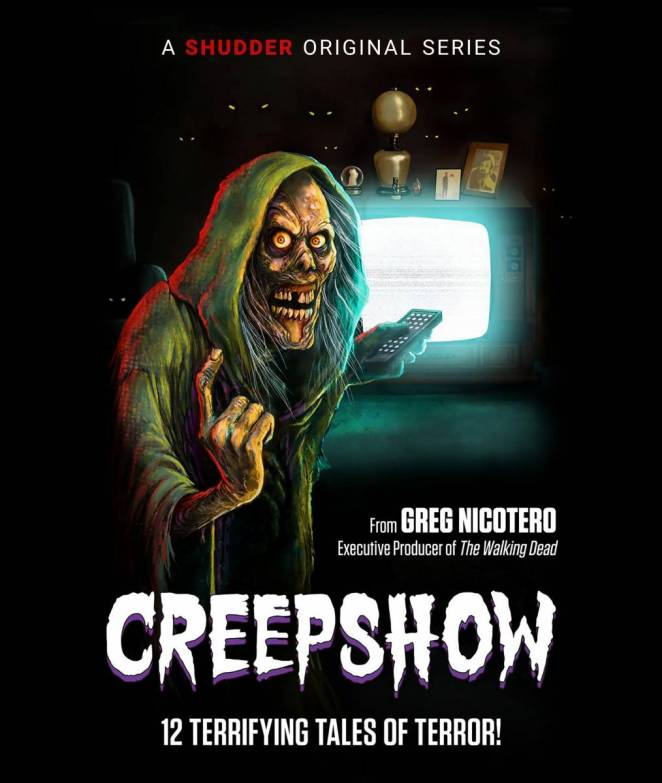 Creep hunches on a poster for Creepshow