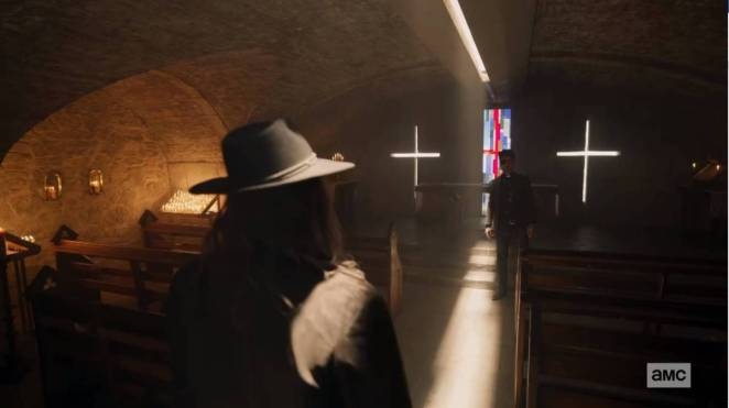 The Saint of Killers coming to kill Jesse Custer in Preacher