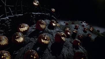 a hill covered in jack o lanterns from A Nightmare Before Christmas