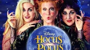 Sarah Jessica Parker with Bette Midler and Kathy Najimy on Hocus Pocus Movie Poster