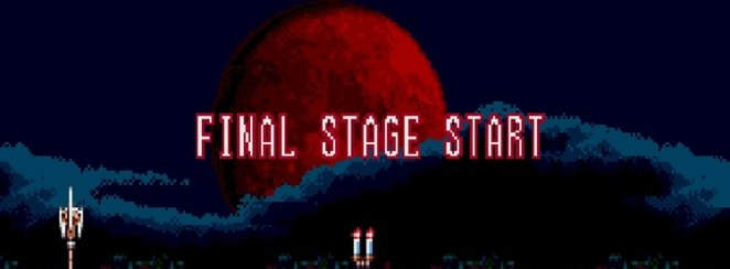 """Stage 6 of Bloodlines begins with a Blood Moon as the words """"Final Stage Start"""" slide in and out of frame"""