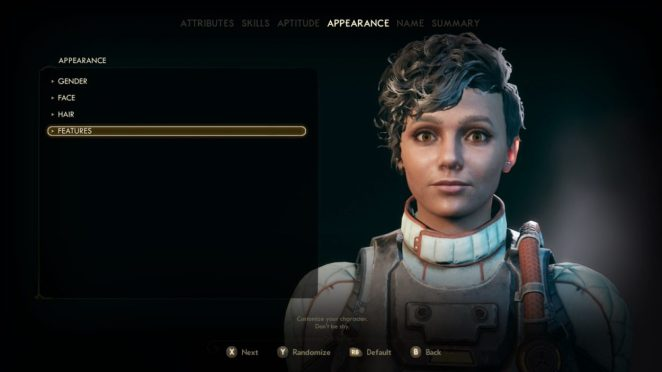 The Outer Worlds Character Creation