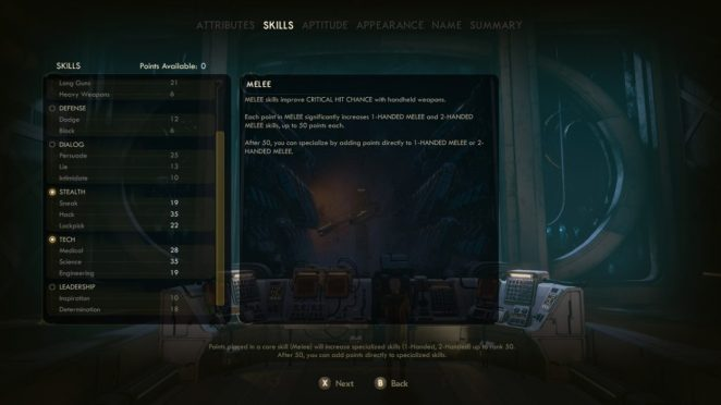 The Outer Worlds Character Creation Perks