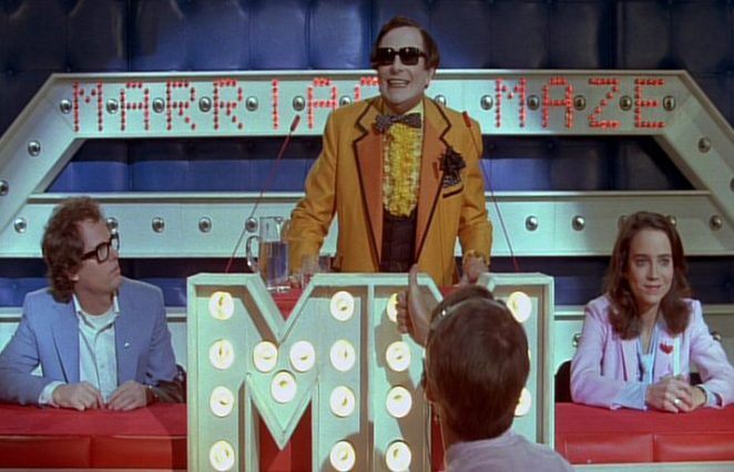 Brad and Janet are contestants on Marriage Maze in Shock Treatment