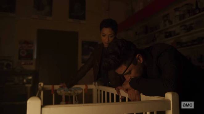 Tulip and Jesse look into their child's crib at the end of Preacher