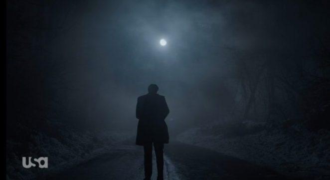 Tyrell walks away on a moonlit road