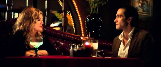 Nina and Lou drink at a Mexican restaurant in Nightcrawler