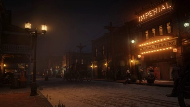 The town of Blackwater at night