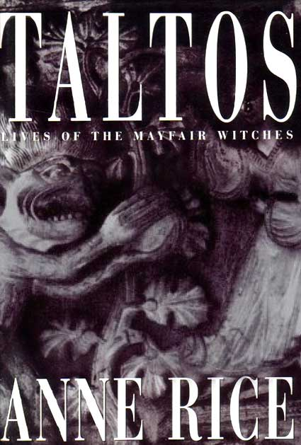 "a grey painting of abstract demons grace the entirity of the cover, with ""Taltos"" in white on the top quarter of the image."
