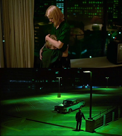 Travis witnesses Jane and Hunter reunite in a hotel room from the street