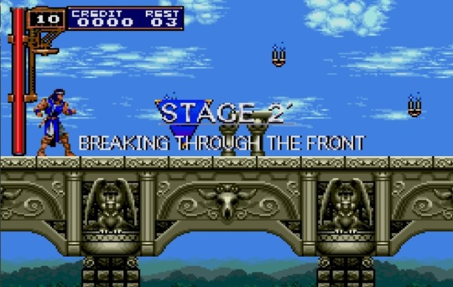 The Alternate Stage 2 is titled Breaking Through the Front, and it takes places on a large, elegantly designed bridge.