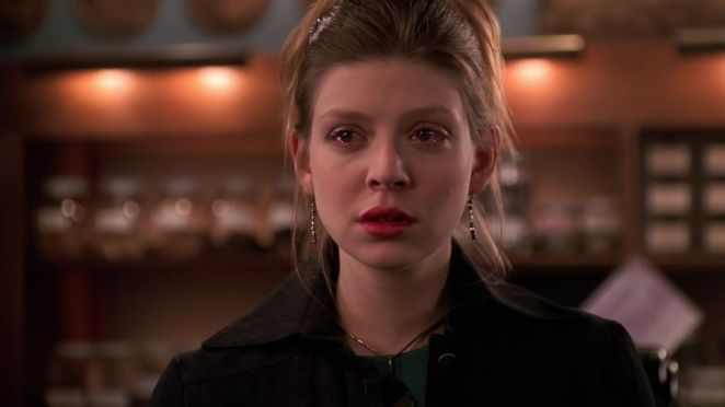 Tara has a look of acceptance on her face as the Scoobies stand up to her family.