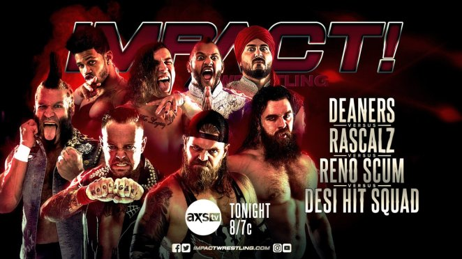 Impact Wrestling Poster For 4 Way Tag Team match