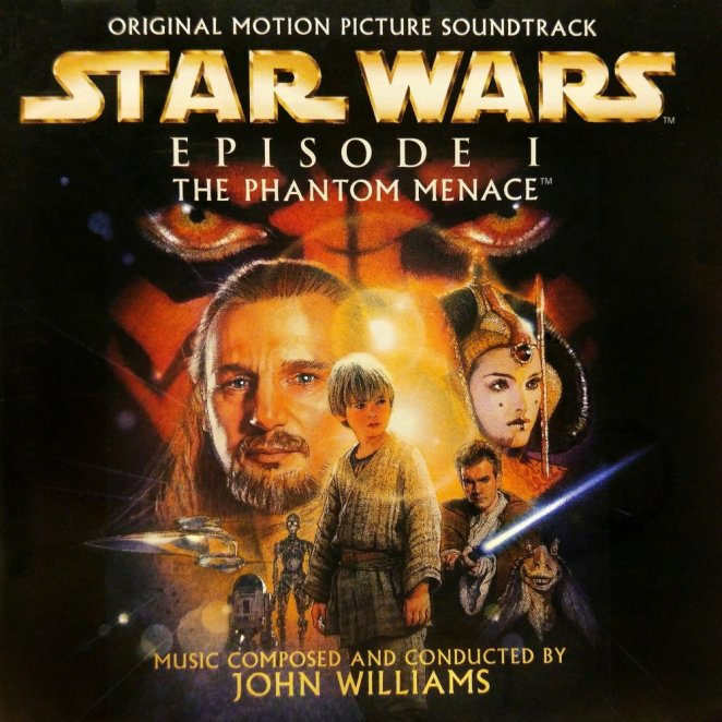 Cover of the Star Wars Episode I The Phantom Menace CD soundtrack